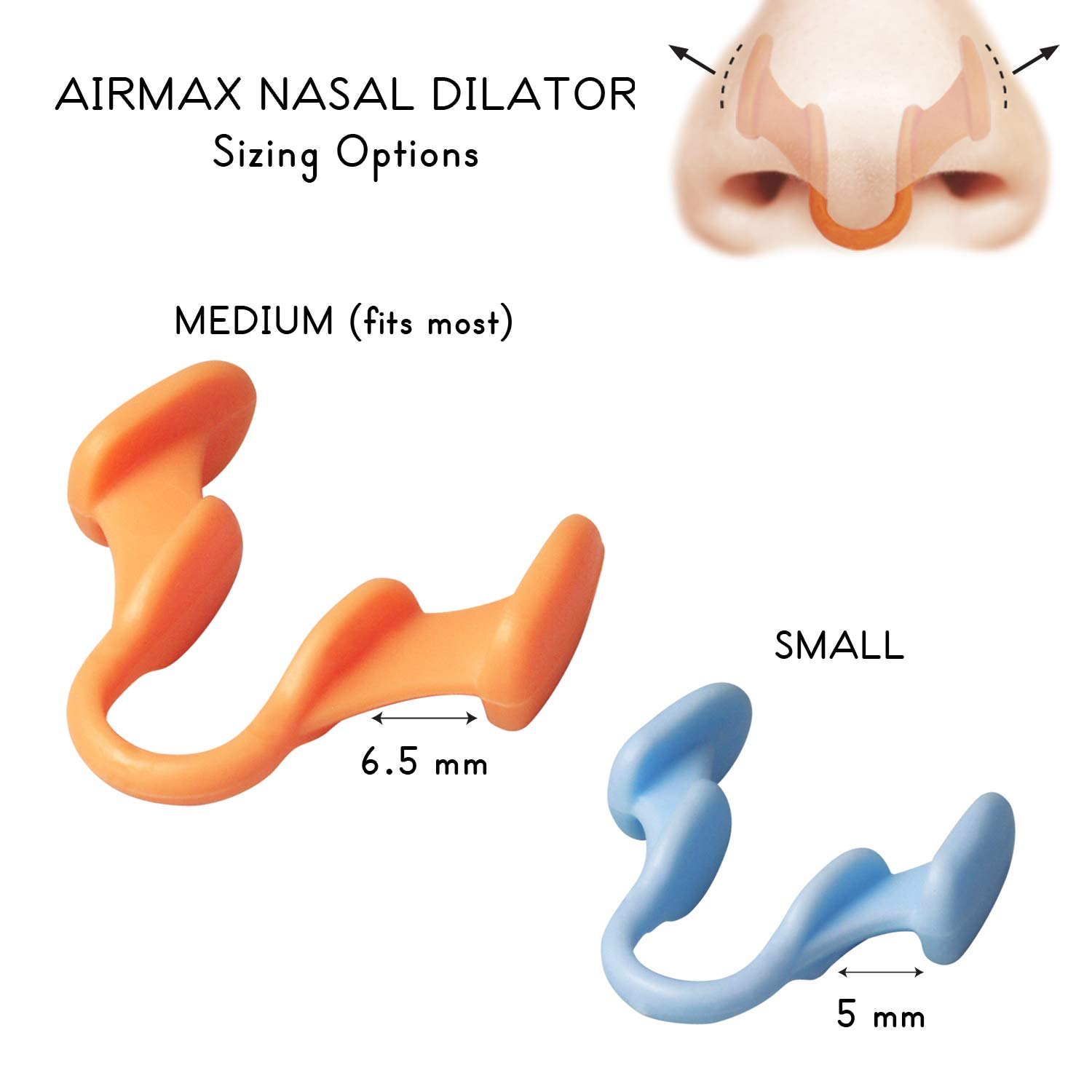 Amazon.com: AIRMAX Nasal Dilator for Better Breathing – Natural, Comfortable, Breathing Aid Solution for Maximum Airflow & Reduced Nasal Congestion (Small ...