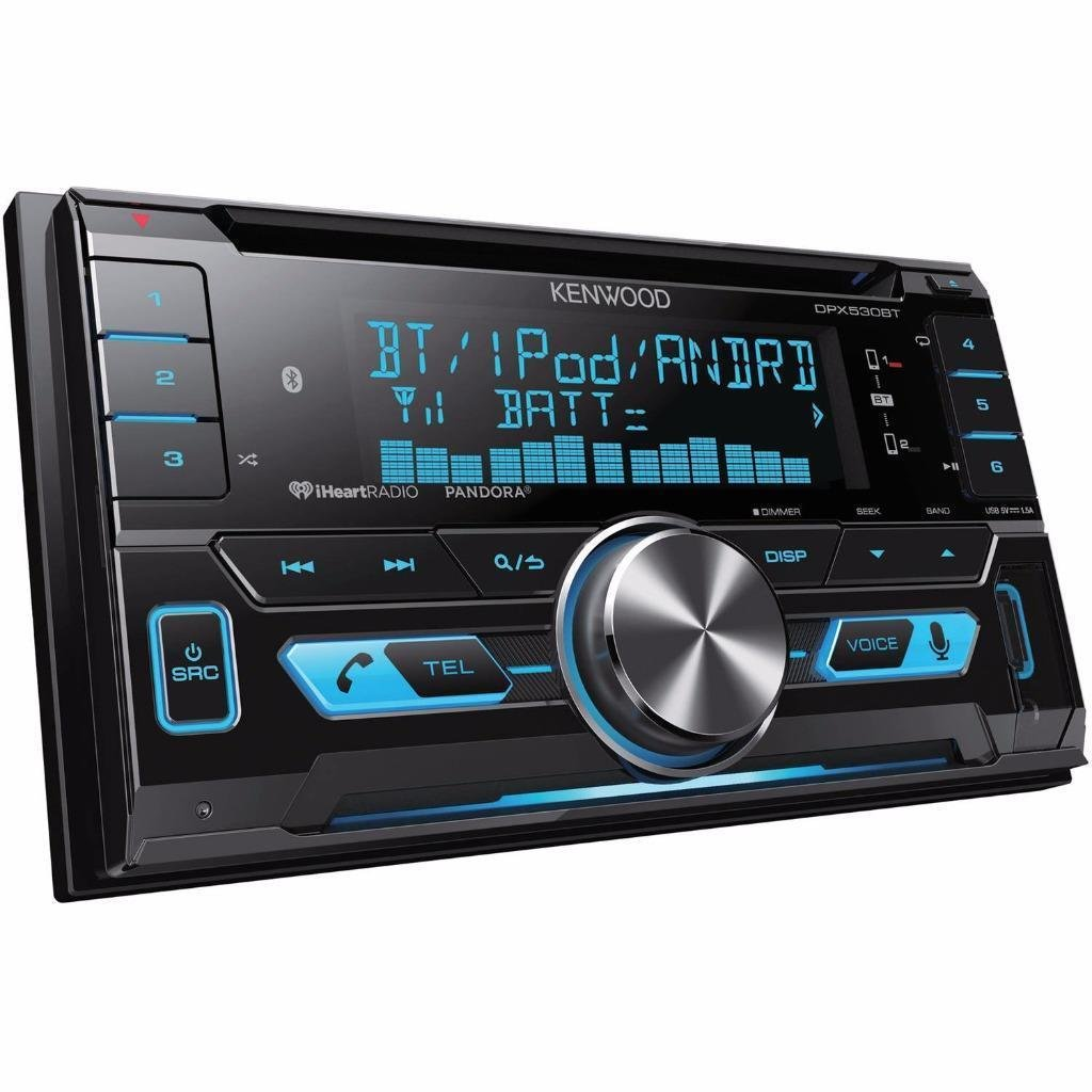 Kenwood DPX530BT Double DIN In Dash CD MP3 USB Bluetooth