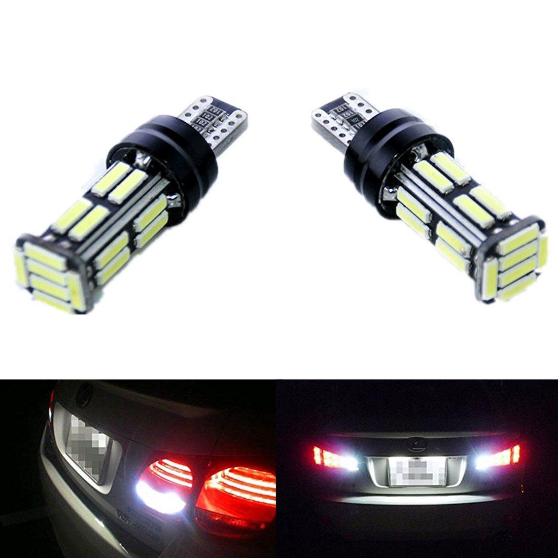 FEZZ 2PCS CANBUS luci lampadine LED Declino W16W 921 T15 7020 22SMD lampeggiante posteriore Auto Car FZ0014