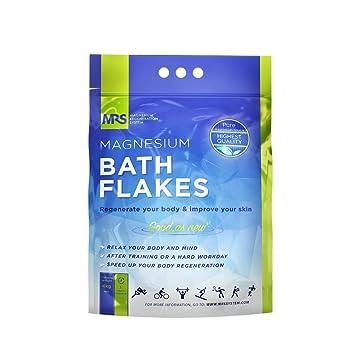 Finest Magnesium Bath Flakes, Bath Salts, Epsom Salt, Body Muscle and Foot  Soak, Regenerate Body and
