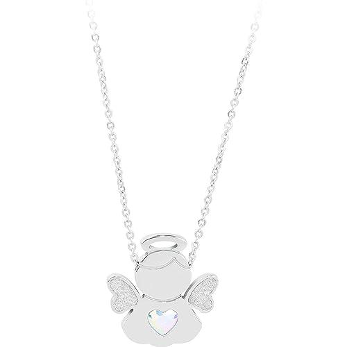 codice promozionale 7b395 94c30 S'agapõ Collana ANGELS acciaio e ciondolo con angelo SNG