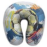 Soccer Football Vector Super U Type Pillow Neck Pillow Outdoor Travel Pillow Relief Neck Pain