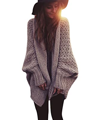 WanYang Womens Chunky Knitted Cardigan Oversized Knitting Sweater ...