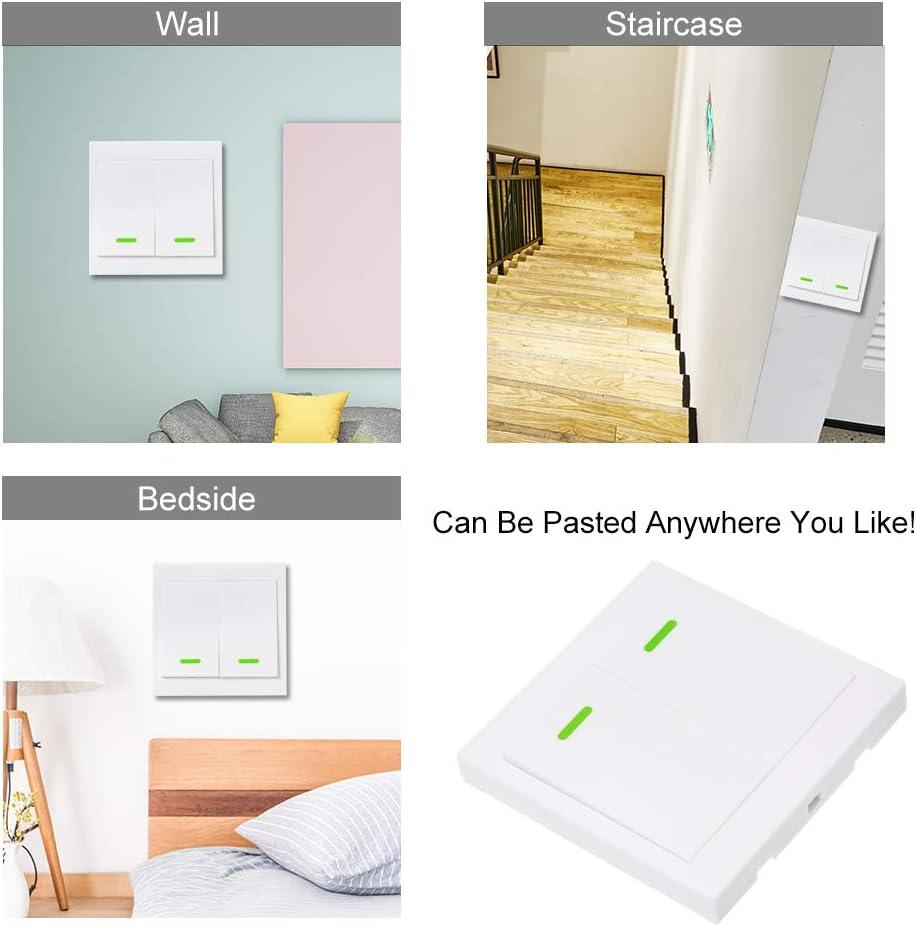 WiFi RF T/él/écommande Contr/ôleur Commutateur,1 Gang 86 Type Switch Panel,T/él/écommande /émetteur avec la Pile Alcaline /à lint/érieur,1PCS Bouton-Poussoir OWSOO eWelink Mural Interrupteur