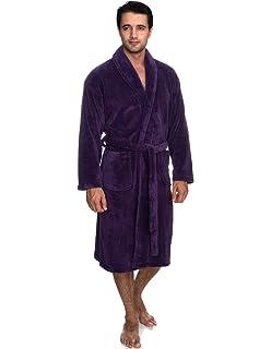 fe015638a5 TowelSelections Men s Super Soft Plush Bathrobe Fleece Spa Robe Made in  Turkey