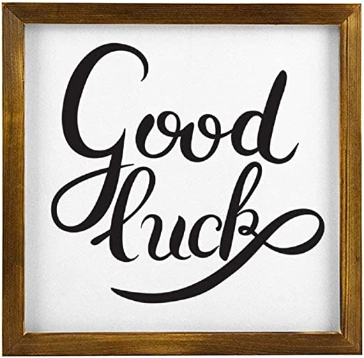 Amazon Com Blake55albert Good Luck Wood Signs With Quotes For Home Decor Wooden Framed Sign Rustic Inspirational Typography Quote Sign Living Room Sign Farmhouse Sign Wall Art Decor Home Kitchen