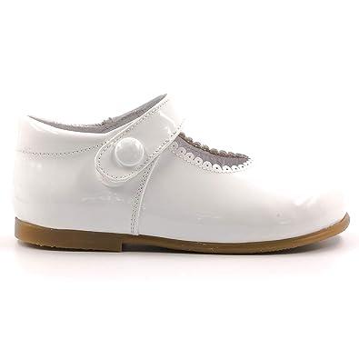eb0d75aa4bd564 Boni Princesse II - Chaussure Fille Premiers Pas - Blanche - 18