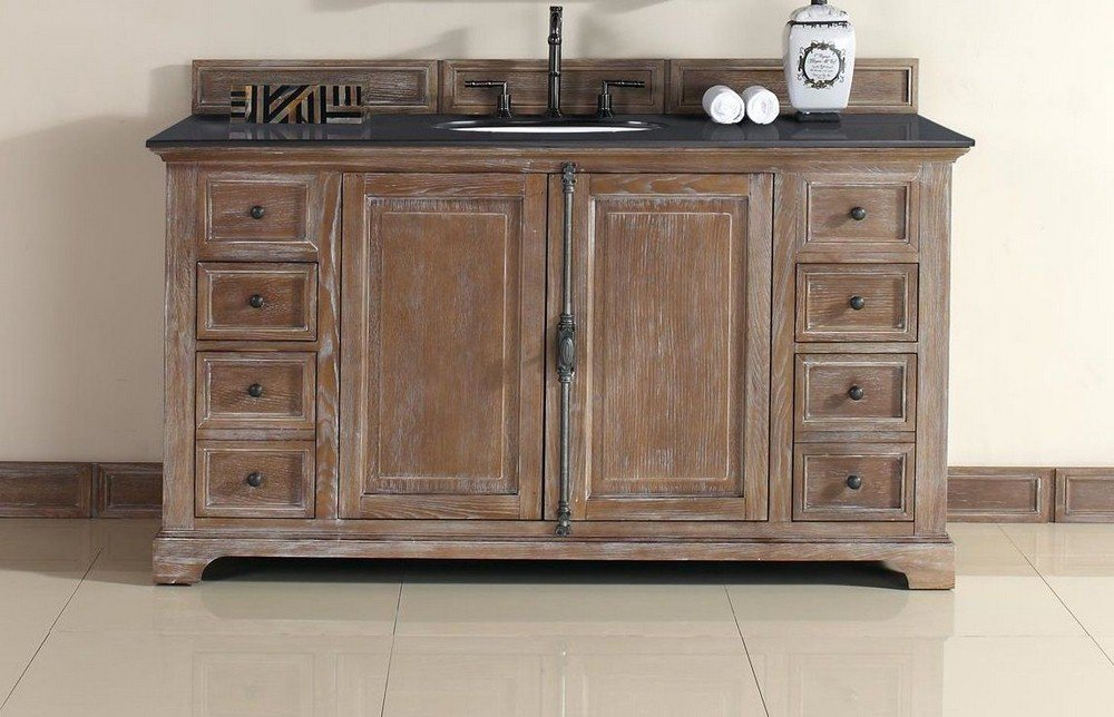60 in. Single Vanity Cabinet in Driftwood