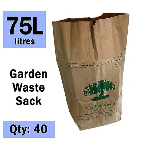 75 litros x 40 papel Garden que las famosas mochilas de desagüe - biodegradables y biodegradables