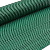 eyepower Canniccio di PVC 100x400cm | Incannucciata di Plastica imitazione canne di bambù | rotolo recinto decorativo | schermo divisorio protettivo paravento privacy ombreggiatura frangivista recinzione giardino | Verde