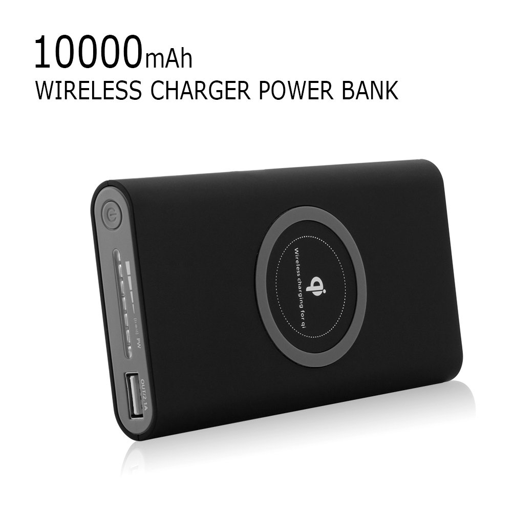 3 In 1 Design Build 10000mah Battery Wireless Charging Power Bank Qi Charger Portable Type C With Technology And Out Led Indicator Samsung Galaxy S8