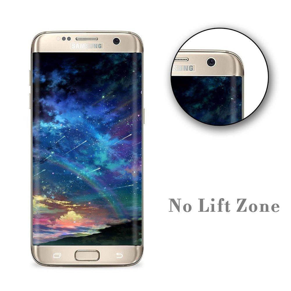 2-Pack Protector de Pantalla Samsung Galaxy S7 Edge, POOPHUNS Protector Pantalla para Samsung Galaxy S7 Edge, Borde a Borde, Cobertura Total, HD Clear, ...