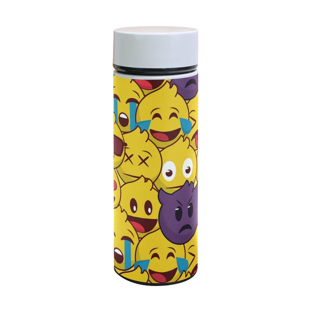 Amazon.com: Cute Emoji Pattern Stainless Steel Vacuum ...