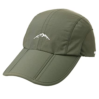 Fancet Sports Rain Cap Running Quick Drying Sun Protection Men Hat Light  Weight UPF Army Green 97ebcb71c1c8