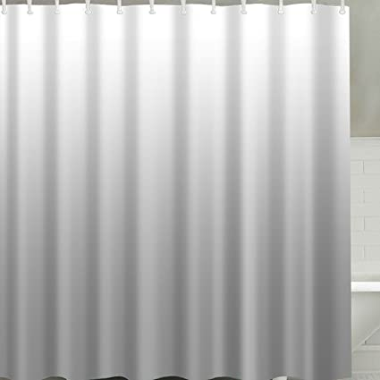 Broshan Modern Grey Shower Curtain Fabric Gray Ombre Textured Art Print Home Bath