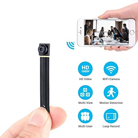 Spy Camera Wireless Hidden Mini WiFi Home Security Nanny Cam 1080P HD Live  Stream Video Recorder with Motion Detection Loop Recording Remote View