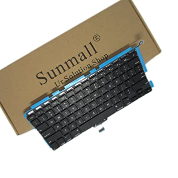 SUNMALL Backlight A1278 Keyboard Replacement with Backlit Compatible with  MacBook Pro 13