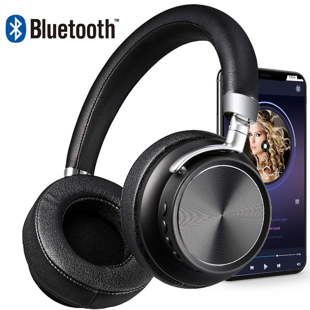 Bluetooth Headphones DIWUER Wireless Foldable Over-Ear Hi-Fi Stereo Headset With Noise Cancelling Microphone Supports Hands-Free Calling and Wired Mode for PC Cell Phones TV