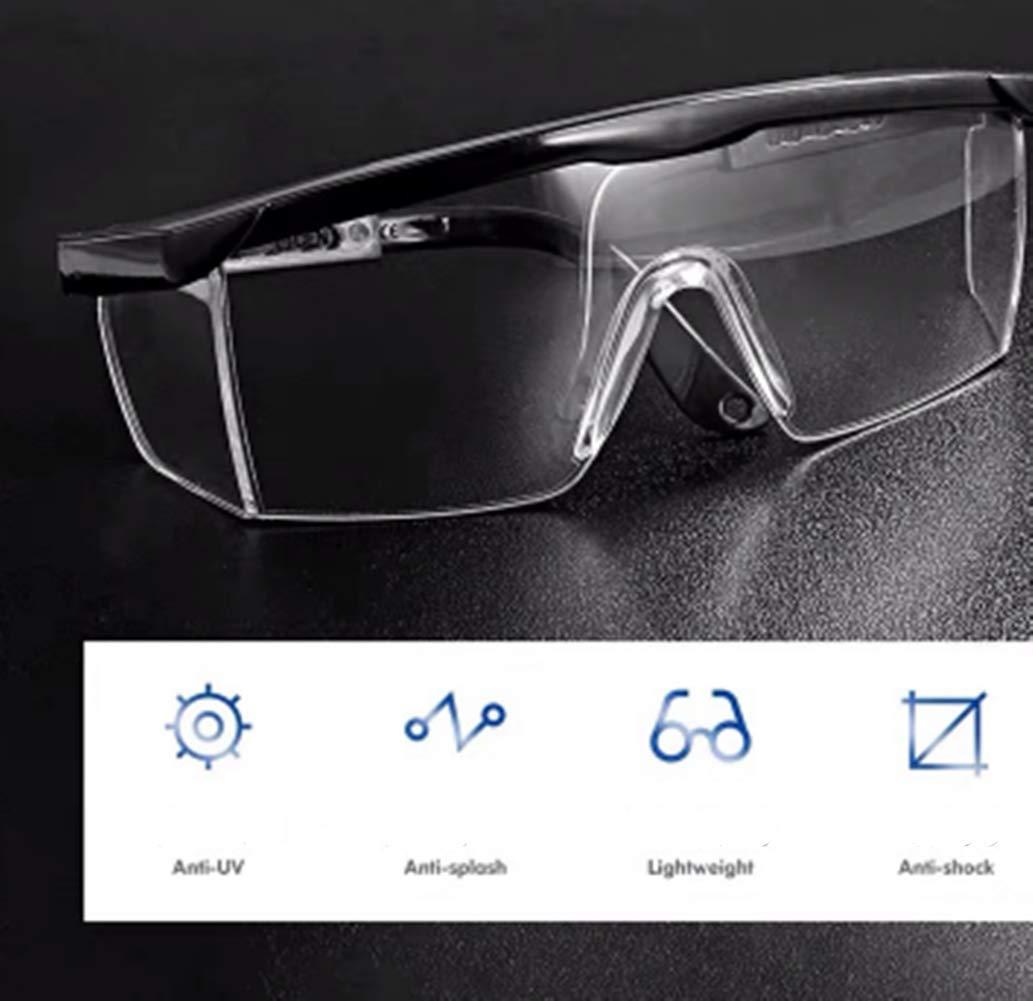 Gafas de Seguridad Gafas Protectoras Lentes de Seguridad Antivaho Blanco Industria Agricultura para Laboratorio