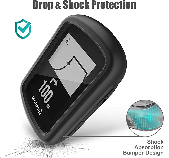 Soft Anti Drop Protective Case Cover Skin for Garmin Edge 130 Plus//130 Disscool Silicone Case Cover for Garmin Edge 130 Plus Black