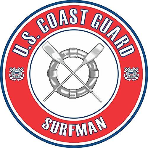 Amazon Com Us Coast Guard Surfman Badge 5 5 Inch Decal Automotive