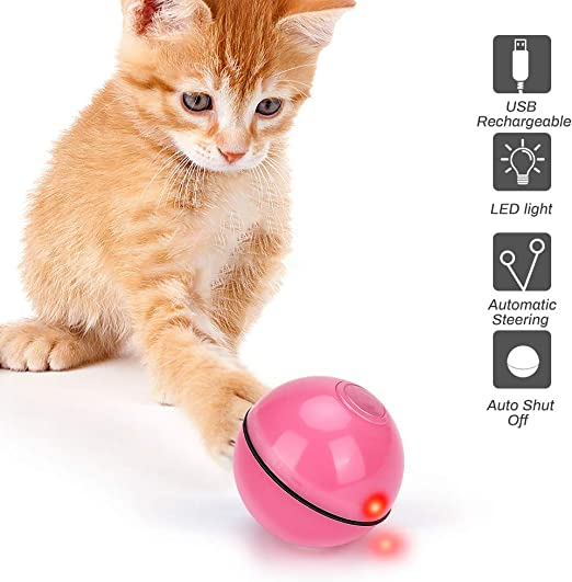 E-More Juguetes Gatos Pelotas, Juguete para Mascotas Bola de Gato ...