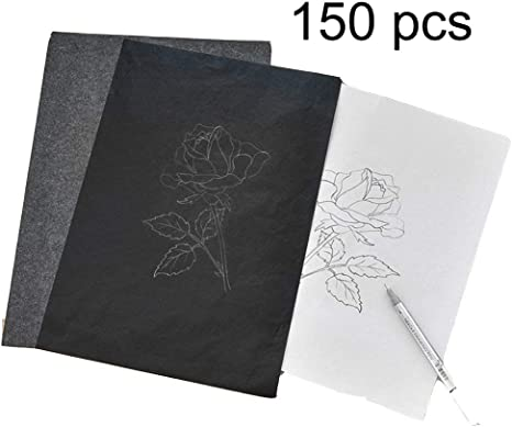 25 Pcs Carbon Transfer Paper Tracing for Wood Paper Canvas Smooth Writing