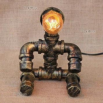 LMPTD Sentado Robot, lámpara de Escritorio de tubería, lámpara de Lectura Antigua, lámpara de Mesa de Edison: Amazon.es: Hogar