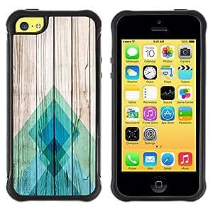 Suave TPU GEL Carcasa Funda Silicona Blando Estuche Caso de protección (para) Apple Iphone 5C / CECELL Phone case / / Lines Wood Texture Docks Pier Surf /