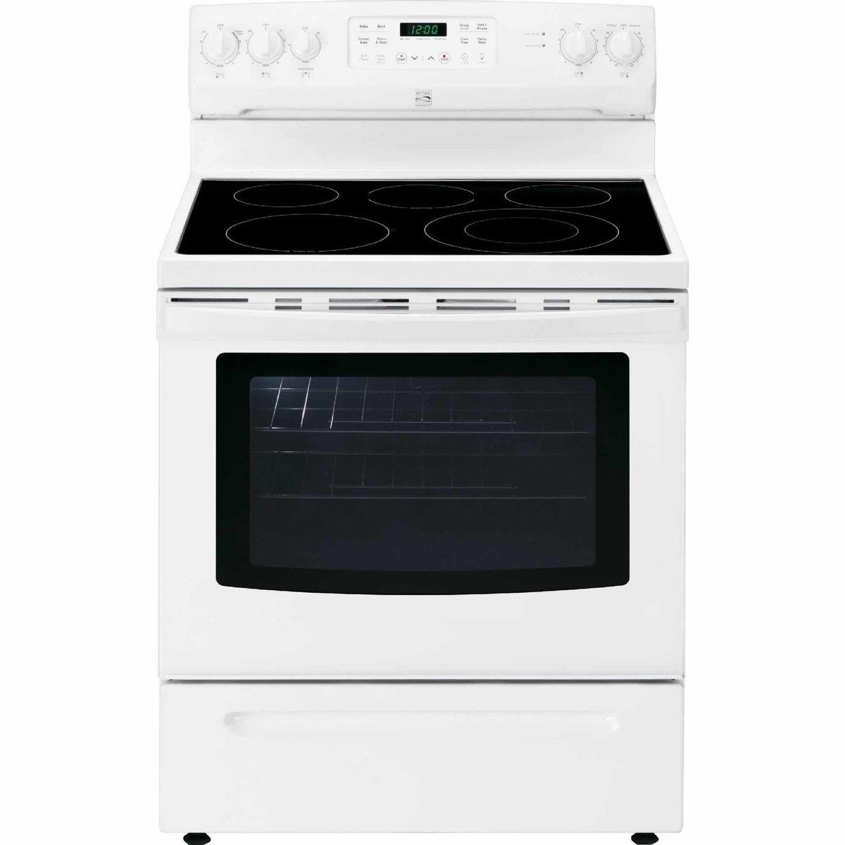 Amazon.com: Kenmore 2294199 2294192 02294192 Self Clean Electric Range, 5.4  cu ft, White: Appliances