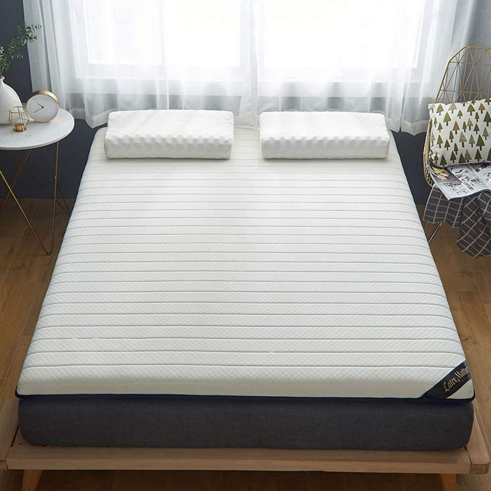 100% Natural Latex Mattress,Breathable Super Soft Foldable Tatami Mattress for Single Double Guest Bedroom Kids Room White Queen:150x200cm