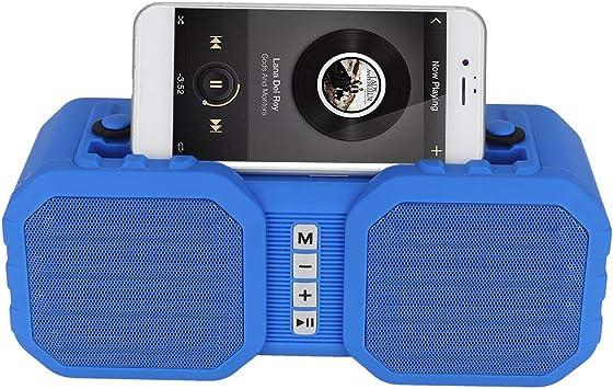 ASHATA Altavoz Bluetooth inalámbrico, Altavoz Bluetooth portátil, Caja de Sonido Envolvente estéreo inalámbrico, Tipo de Soporte para teléfono móvil, con función de Llamada Manos Libres(Azul): Amazon.es: Electrónica
