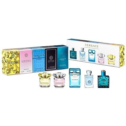 Versace miniatura juego de perfume para hombres y mujeres 5 ...