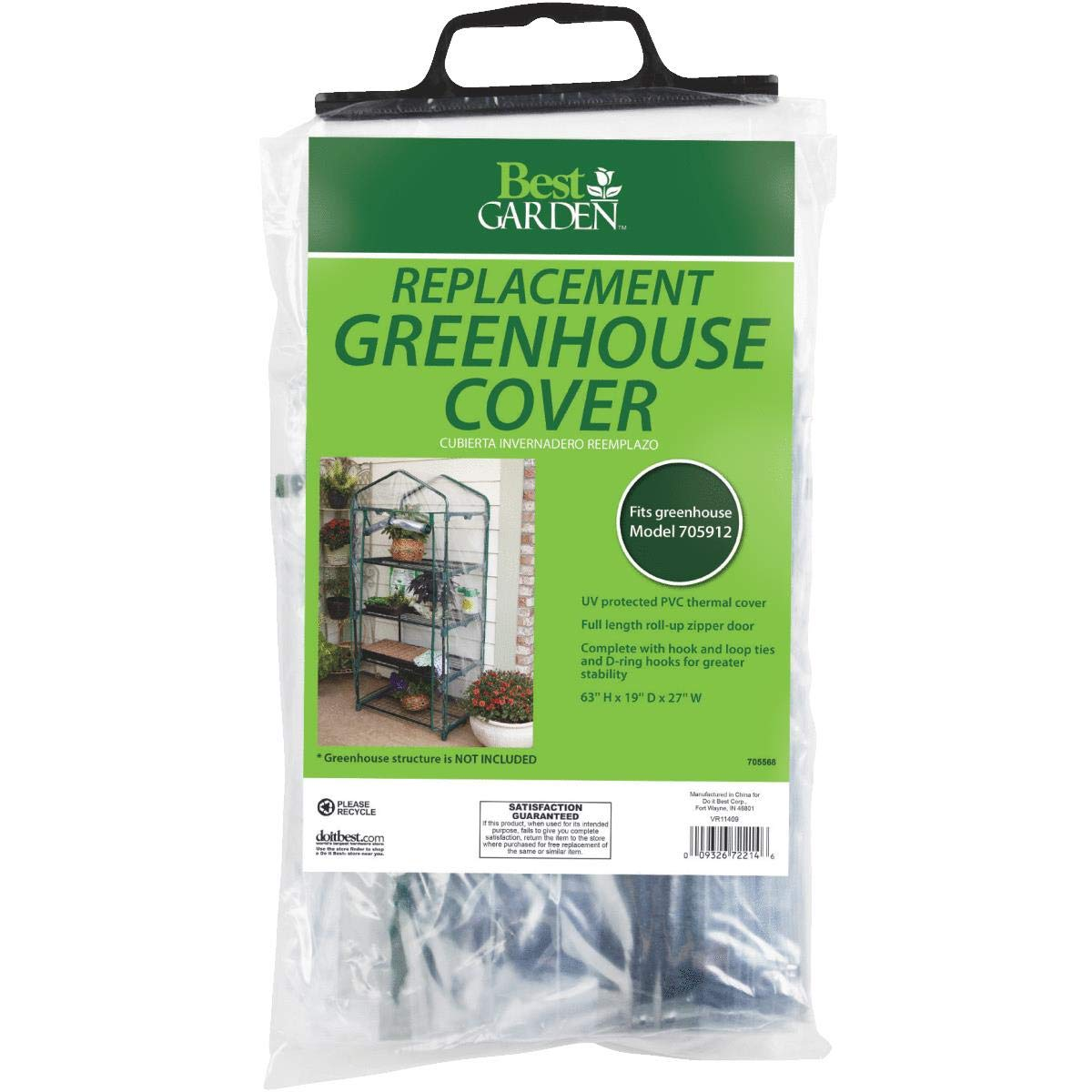Sim Supply, Inc. Best Garden Replacement Cover for Greenhouse - 1 Each by Sim Supply, Inc. (Image #1)