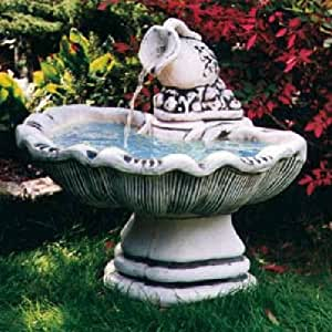 Fontäne Vino Jarra (S322) fuentes ornamentales Brunnen Jardín Decoración de piedra 72 cm: Amazon.es: Jardín