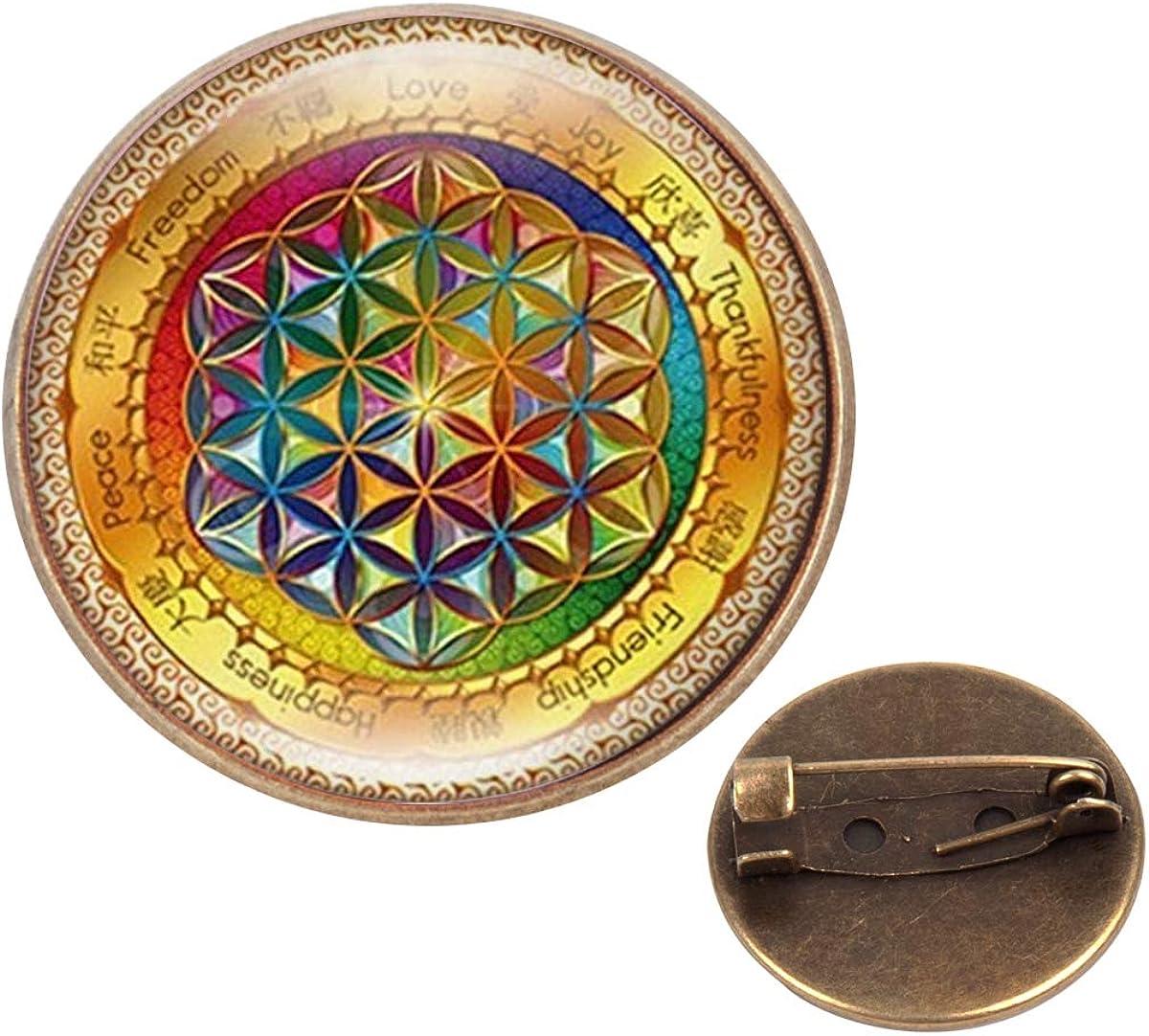 Pinback Buttons Badges Pins Geometric Free Picture Mandala Flowers Lapel Pin Brooch Clip Trendy Accessory Jacket T-Shirt Bag Hat Shoe