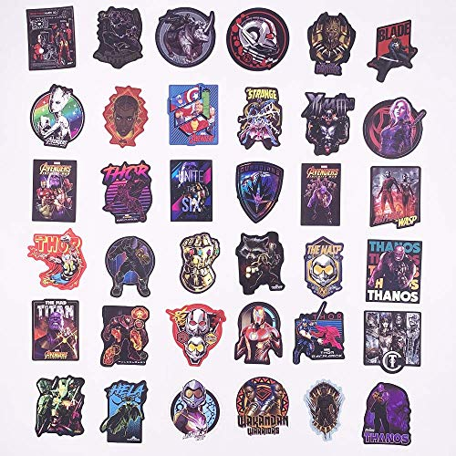 Marvel Avengers Stickers 108 Pcs - Laptop Vinyl Waterproof Sticker for Car Luggage Water Bottle Skateboard Motorcycle Bicycle Decal Graffiti Patches, Superhero Stickers Decal, Great Gift Choice