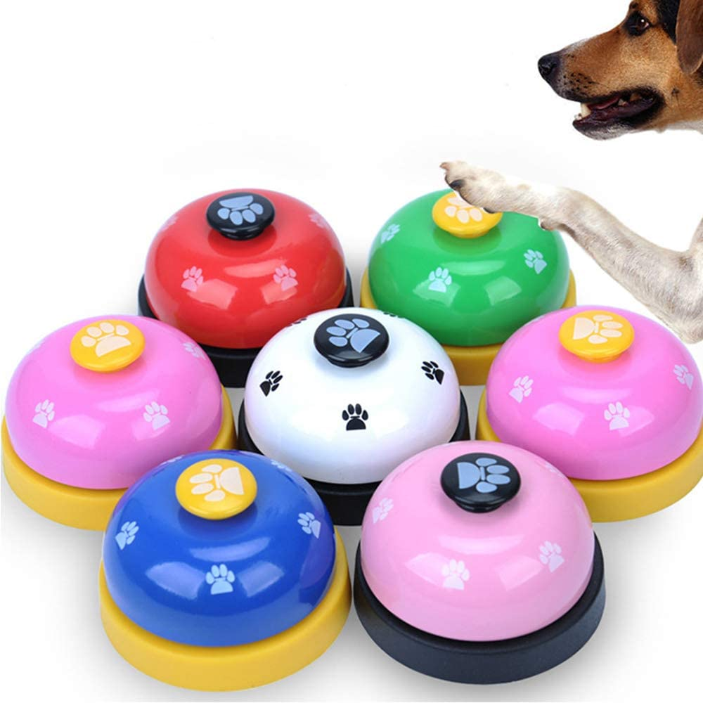 White BVAGSS 2PCS Pet Training Bell Ring Meal Bell Interactive Toy Feeding Ringer Educational Toys for Cats and Dogs XH035