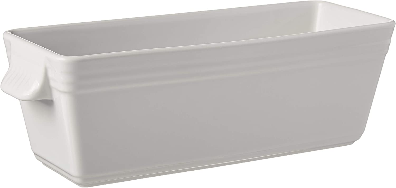 B0006GMMRW REVOL 612411 C791 Terrine for Galantine Without Lid French Classique, 40.5 oz, White 61TxkZA47iL