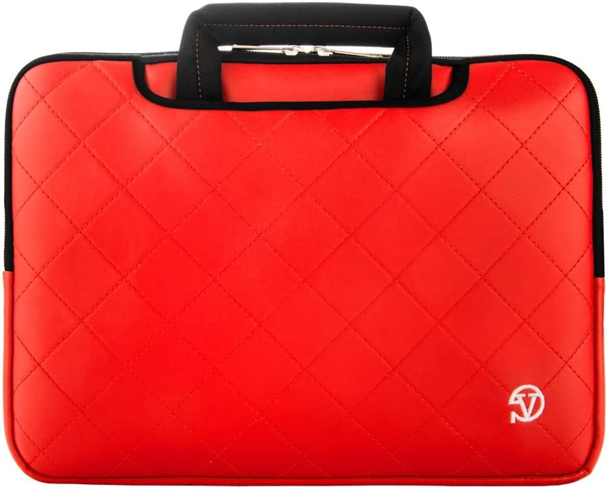 Vangoddy Waterproof Red Laptop Briefcase with Microfiber Interior for Microsoft Surface 13 inch Laptops
