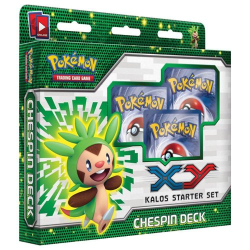 pokemon trading card game - xy kalos starter set - chespin deck - 1