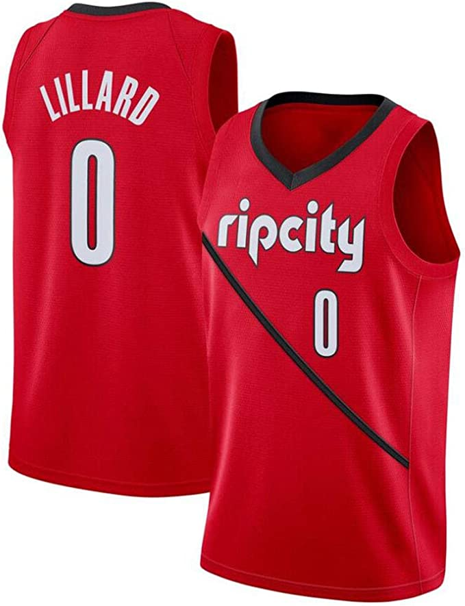 Damian Lillard # 0 Camiseta De Baloncesto De Los Hombres - NBA ...