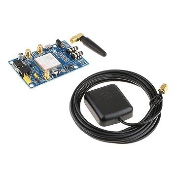 B Blesiya Módulo SIM808 Antena GPS gsm Tablero de Desarrollo de GPS gsm GPRS Herramientas Eléctricas: Amazon.es: Electrónica