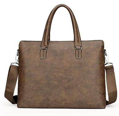 Borse Da Uomo In Pelle Business Bags Computer Crossing Spalla Scivolata  Cartella Incrociata  Amazon.it  Abbigliamento f662d9724bf