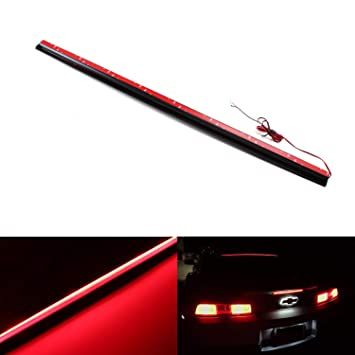 iJDMTOY Above Rear Windshield 36-Inch LED 3rd Brake Light Assembly,  Universal Fit A7 6-Series Style Roofline LED Brake Style