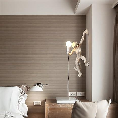 SQIAO lampada da parete moderna a LED La scimmia decorate soggiorno ...