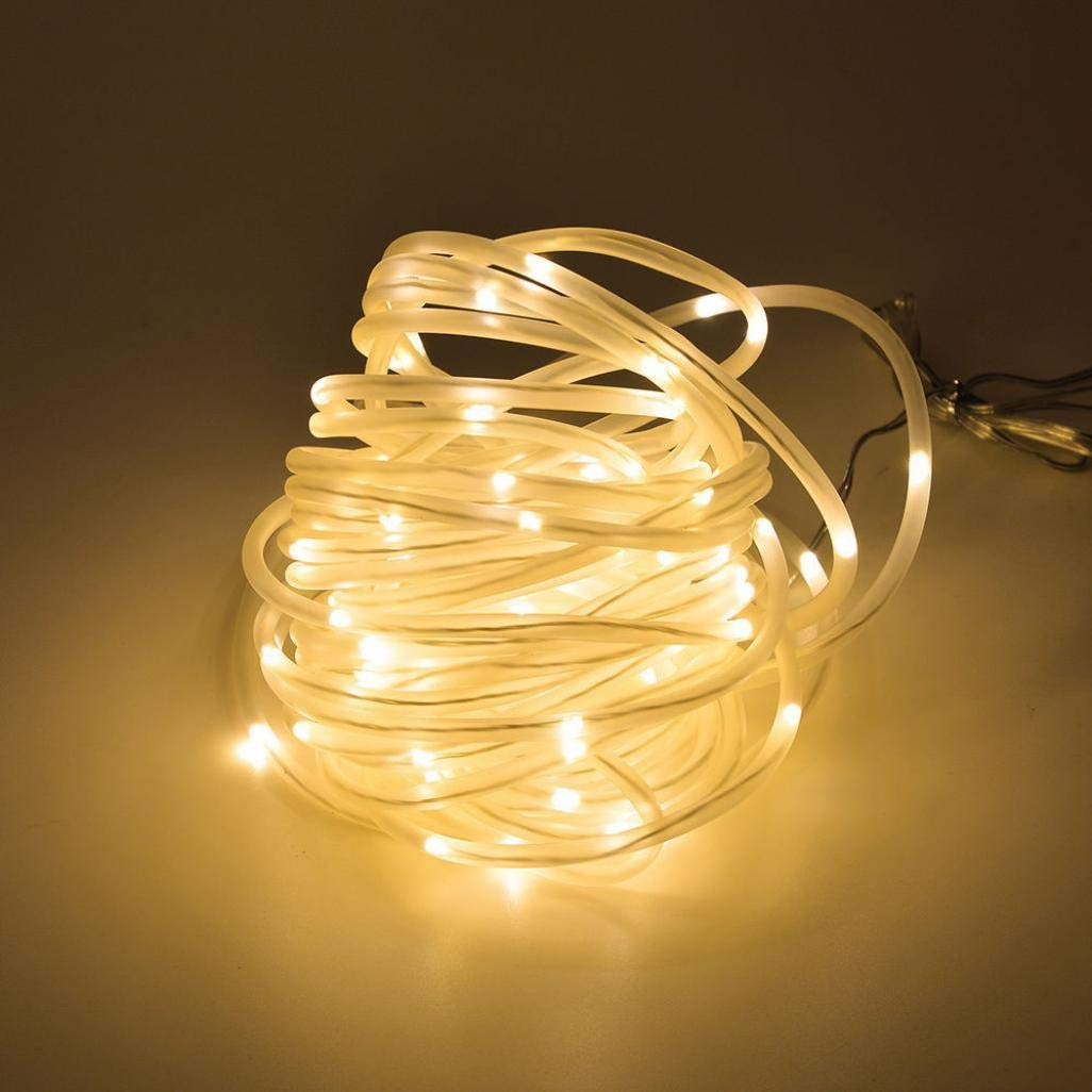 Rumas Solar Powered Rope Light - 10 M 100 LEDs Waterproof - Art DIY Fairy Light for Gate Garden Patio Path Lawn Street Tree Decoration Indoor Outdoor (A)
