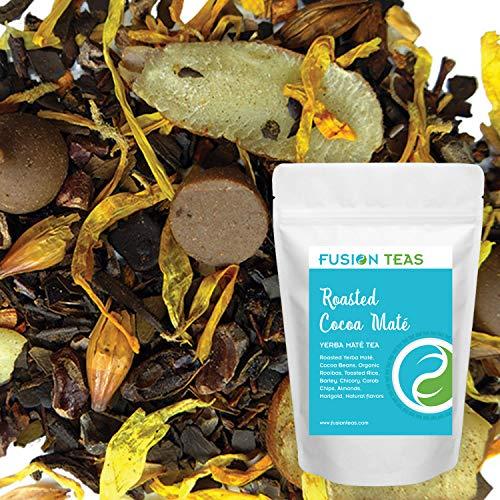 Roasted Cocoa Yerba Mate - Chocolate Dessert Tea with Carob, Chicory & Almond - Gourmet Loose Leaf Tea - Coffee Substitute - 5 Oz. ()
