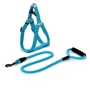 Arnés ajustable del cableado del perro y del correa arnés de paso ...