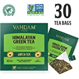 Green Tea Leaves from Himalayas (30 Tea Bags), 100% Natural Green Tea, Long Leaf in Pyramid Tea Bags ANTI-OXIDANTS RICH - Green Tea Loose Leaf - Brew Hot or Iced Tea - 15 Ct (Pack of 2)